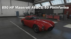 maserati a6gcs how fast will it go 1953 maserati a6gcs 53 pininfarina berlinetta