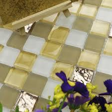 Gold Items Crystal Glass Mosaic Tile Wall Backsplashes by Foil Kitchen Backsplash Promotion Shop For Promotional Foil