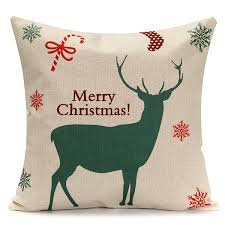 45x45cm christmas tree red deer gift fashion cotton linen pillow