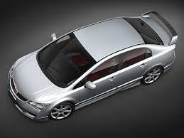 honda civic type r sedan 2008 3d model