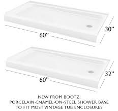 Enameled Steel Bathtubs Two Affordable Porcelain On Steel Shower Bases From Bootz