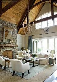 Dream Living Rooms - rustic living room with wood ceilings home decor u0026 design