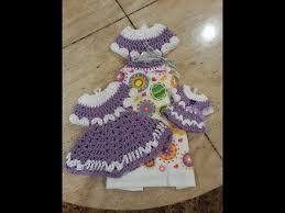 pattern crochet towel holder crochet easy and beautiful vintage dress towel topper set diy