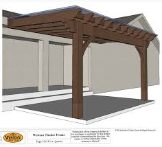 Covered Pergola Plans Home Design Attached Covered Pergola Plans Traditional Large