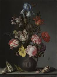 Flowers In A Vase Images Balthasar Van Der Ast Flowers In A Vase With Shells And Insects