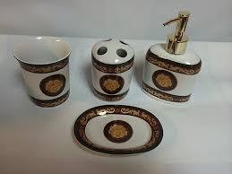 4 piece versace design porcelain bathroom set pure liquidation