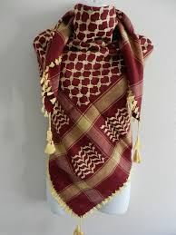 arab wrap burgundy gold arab shemagh scarf neck wrap