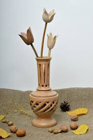 pear home decor wooden vase light pear tree handcrafteco friendly home interior decor