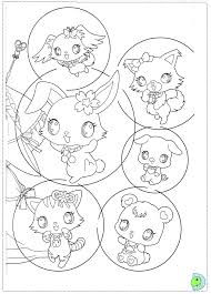jewelpet coloring dinokids org