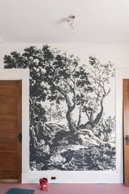 one room challenge week 4 painting a foliage filled wall mural multi colored wall mural painting diy