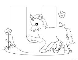 printable alphabet letters uppercase letter u is for unicornfree