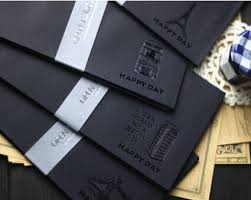 Decorated Envelopes Aliexpress Com Buy 4y4a 4pcs Retro Personality Black Gilt