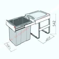 poubelle de cuisine sous evier poubelle sous evier coulissante poubelle cuisine sous evier