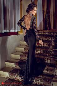 atmosphere rochii rochie lunga lycra neagra si dantela cu margele la spate rn 47