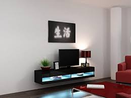 Led Tv Wall Mount Cabinet Designs High Gloss Living Room Set With Led Lights Tv Stand Wall