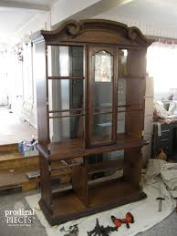 china cabinets hutches china cabinet makeover with wallpaper prodigal pieces