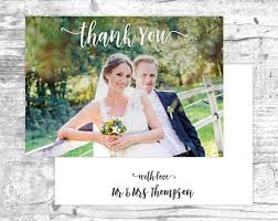 wedding thank you cards etsy se