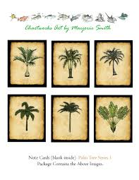 chart mermaid palm trees postcards notecards chartworks