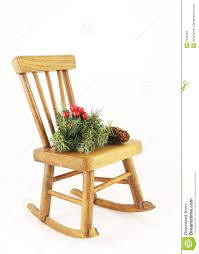 wooden rocking chair with decorations royalty free stock