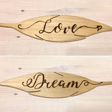 personalized wood feathers wood burned calligraphy decorative