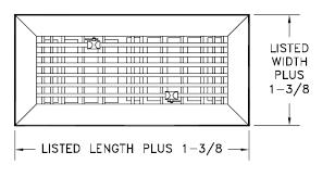 Decor Floor Registers 4x10 Aluminum Floor Register 531 Hart And Cooley
