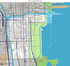 Green Line Chicago Map by Map Of Building Projects Properties And Businesses In Loop