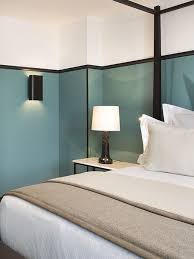 d馗oration int駻ieure chambre bleu et noir moderne chambre décoration intérieure