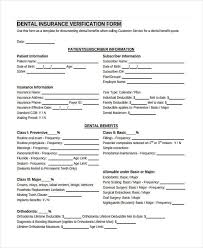 23 insurance verification form templates