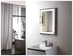 amazon com led backlit mirror with border home kitchen