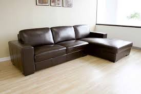 Corner Lounge With Sofa Bed Chaise by Small Brown Leather Sofa Bed Centerfieldbar Com