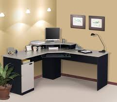 computer desk with cpu storage black solid wood corner computer desk with light gray table top and