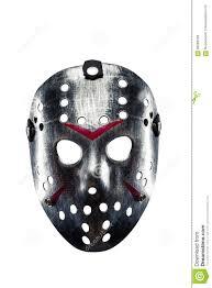 Mask Of Halloween Hockey Mask Of Serial Killer Isolated On White Stock Photo Image