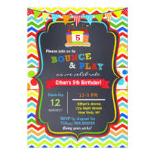 bounce house invitations announcements zazzle
