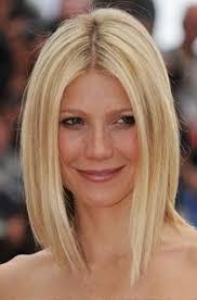 unlayered hair gwyneth paltrow long length a line bob bobs hair makeup and