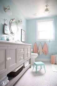 turquoise bathroom wall decor pale tiles grey and rugs