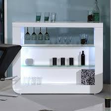 White Bar Table Fiesta Bar Table In White High Gloss And Glass Shelves High