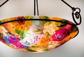 Orange Glass Chandelier Purchase California Vineyard Reverse Hand Painted Glass Chandelier