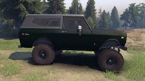 tank green jeep scout ii 1977 dark green poly for spin tires