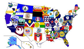 Map If Us Flag Map Of Us State Capitals Oc 2100 X 1246 Mapporn