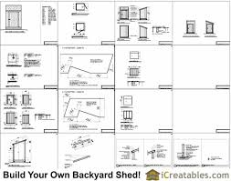 Free Wood Shed Plans Materials List by 5x6 Lean To Shed Plans Icreatables Sheds