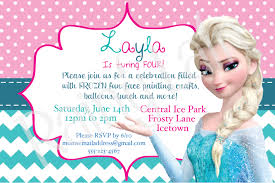 frozen birthday invitation ideas ajordanscart com