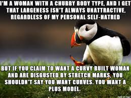 Stretch Marks Meme - no one really comes blemish mark free but if you want a larger mate
