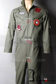 top gun jumpsuit top gun maverick pete mitchell flight suit mens costume