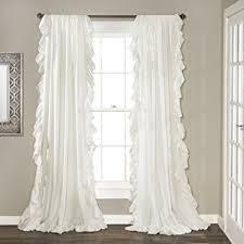 curtain decor amazon com lush decor reyna window curtain panel pair 84 x 54