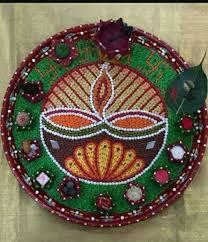 194 best aarti thali u0026 pooja thali decoration images on pinterest