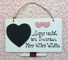 wedding countdown for personalised wedding countdown plaque farna crafts