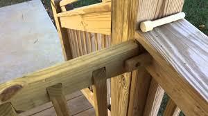 diy project sliding deck gate youtube