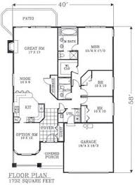 narrow lot house plans with basement 1732 sf no basement stairway access floor plan of bungalow