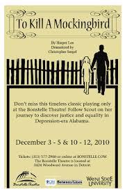 To Kill A Mockingbird Barnes And Noble To Kill A Mockingbird The Wsu Bonstelle And Studio Theatres At
