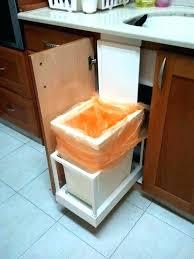 under sink trash pull out sliding trash can under sink pull out trash can trash pull out